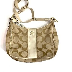 Coach Signature C Fabric Hobo